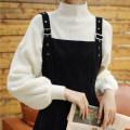 Dress Winter 2020 Black suspender skirt + sweater, [small short] black suspender skirt + sweater, red sweater + black suspender skirt, [small short] red sweater + black suspender skirt, black sweater + Red suspender skirt, [small short] black sweater + Red suspender skirt longuette Two piece set
