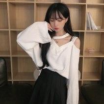 Sweater / sweater Spring 2021 Gray, white, black Average size Socket singleton  routine easy commute 18-24 years old