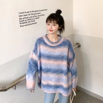 sweater Autumn 2020 Average size Red, blue Long sleeves Socket Regular other 31% (inclusive) - 50% (inclusive) Crew neck Regular