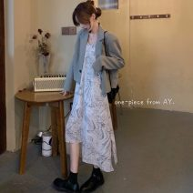 Fashion suit Summer 2021 Average size Dress 91980, coat 91981# 18-25 years old 96% and above