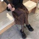 skirt Winter 2020 Average size Black, brown Mid length dress Natural waist Pleated skirt Decor Type A