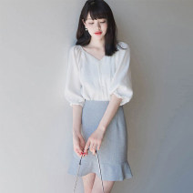 Professional dress suit S,M,L,XL Picture color two piece set, Chiffon Top, single skirt Summer 2020 elbow sleeve XN-0226-L8122 Other styles other 25-35 years old Other / other 31% (inclusive) - 50% (inclusive)