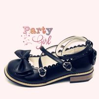 Low top shoes Lemon girl Round head PU Flat bottom Low heel (1-3cm) Shallow mouth PU Summer 2020 Flat buckle solar system Adhesive shoes Youth (18-40 years old), children (under 18 years old) Solid color rubber Ballet Flats PU daily Napa