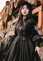 Dress Winter 2020 [loyal chariot Cape], [loyal chariot OP], suit [OP + Cape] with tie, pre-sale of [loyal chariot Cape], pre-sale of [loyal chariot OP], pre-sale of suit [OP + Cape] with tie S,M,L WITHPUJI