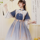 Dress Spring 2021 Pre sale of fake collar and bow for small fan S,M,L with puji Q2508