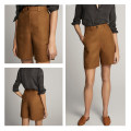 Casual pants Brown brown S,M,L Summer 2020 shorts High waist Versatile routine 71% (inclusive) - 80% (inclusive) Other / other other pocket