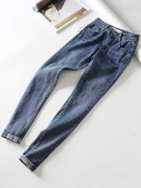 Jeans Spring 2020 blue 34,36,38,40,42,44 Ninth pants Natural waist Pencil pants routine