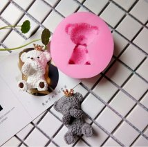 Baking mould Cover your mouth teddy bear silicone mold cover your ears teddy bear silicone mold Enjoy life
