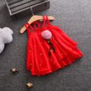 Dress Pearl pink skirt white, Pearl Pink Skirt Pink, pearl pink skirt red female Other / other 73cm,80cm,90cm,100cm,110cm Cotton 99% hemp 1% cotton Class A 3 years, 2 years, 18 months, 9 months, 6 months, 12 months, 3 months Chinese Mainland