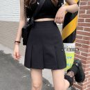 skirt Summer 2021 S,M,L Gray, black Short skirt commute High waist A-line skirt Solid color Type A 18-24 years old 30% and below other other Korean version