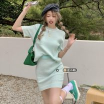 Fashion suit Summer 2021 Average size Light green, light yellow 18-25 years old