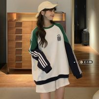 Sweater / sweater Spring 2021 White, blue Average size Long sleeves routine Socket singleton  routine Crew neck easy commute routine letter 18-24 years old 30% and below Korean version other