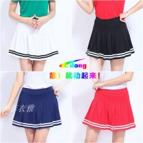 skirt Summer 2017 M,L,XL,2XL,3XL,4XL,5XL White, red, black, sapphire Short skirt motion Natural waist Pleated skirt Type A 25-29 years old 91% (inclusive) - 95% (inclusive) Other / other