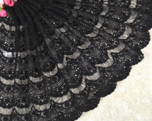 lace 40 cm wide, black, half meter Jin Xianming
