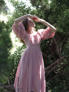 Dress Summer 2020 Pink XXS,XS,S,M,L longuette singleton  Short sleeve commute One word collar High waist Solid color zipper Big swing Princess sleeve 25-29 years old Type A Simplicity 51% (inclusive) - 70% (inclusive) hemp