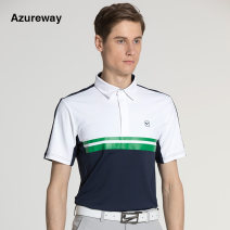 Golf clothing Other / other male S,M,L,XL,XXL AW-T935M Blue, white sapphire blue, white ice blue Lapel Short sleeve Badge, color contrast, brand logo, pattern, letter, light version, embroidery, offset printing Game clothes jacket Spring 2020