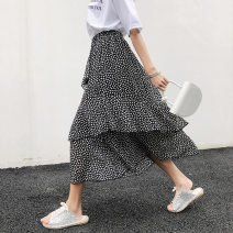 skirt Summer 2020 S,M,L White, black longuette fresh other other 18-24 years old More than 95% Nafmi / nafmi other Splicing