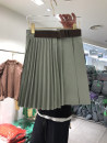 skirt Summer 2021 S,M,L,XL Green, blue, coffee Short skirt commute High waist A-line skirt Solid color Type A 25-29 years old 51% (inclusive) - 70% (inclusive) other other Pleats, pleats Korean version
