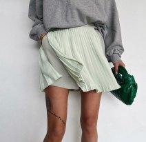 skirt Summer 2021 S,M,L,XL White, cyan, black Short skirt commute High waist other other Type A 25-29 years old 51% (inclusive) - 70% (inclusive) other other Fold, pocket, lace up Korean version