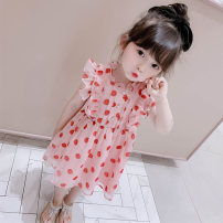 Dress Pink female Other / other 80cm,90cm,100cm,110cm,120cm,130cm Other 100% summer Korean version other other 3 months, 12 months, 6 months, 9 months, 18 months, 2 years old, 3 years old, 4 years old, 5 years old, 6 years old, 7 years old, 8 years old