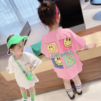 Dress female Other / other 90cm (recommended height about 90cm), 100cm (recommended height about 100cm), 110cm (recommended height about 110cm), 120cm (recommended height about 120cm), 130cm (recommended height about 130cm) Cotton 90% other 10% summer Korean version Cartoon animation cotton Class A