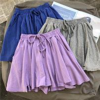 Casual pants M, L Summer of 2019 shorts Wide leg pants Natural waist commute Thin money 96% and above cotton Korean version hole cotton