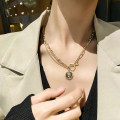 Necklace Alloy / silver / gold RMB 1.00-9.99 Other / other Double necklaces brand new Japan and South Korea female goods in stock yes Fresh out of the oven 21cm (inclusive) - 50cm (inclusive) yes Not inlaid alloy other Water wave chain