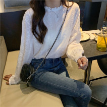 shirt Picture color Average size Autumn of 2019 other 96% and above Long sleeves commute Regular stand collar Socket routine Solid color 18-24 years old Other / other Korean version