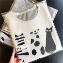 T-shirt Grey, beige S, M Spring 2021 Short sleeve Crew neck easy Regular routine Sweet other 96% and above classic Cartoon, cartoon, animal pattern 3D, asymmetric, three-dimensional decoration solar system
