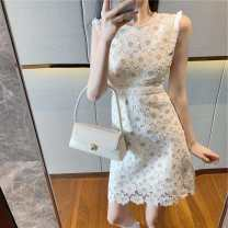 shirt Apricot S, M Summer 2020 other 96% and above Sleeveless commute Regular Crew neck other other 18-24 years old Self cultivation WanChen Korean version zaIrA