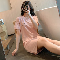 Outdoor casual clothes Tagkita / she and others 18-9368DO female Love letter Dousha powder, love letter fog blue, funny expression gray, funny expression pink 101-200 yuan 160(M),165(L),170(XL),175(XXL) other Short sleeve summer Crew neck other