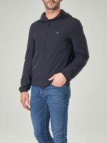 Jacket Other / other Youth fashion Black, Navy thin standard Other leisure Four seasons Long sleeves Wear out Hood routine Zipper placket 2021