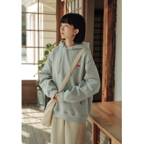 Sweater / sweater Winter 2020 Light grey, black M,L,XL,2XL Long sleeves routine Socket singleton  Plush Hood easy street raglan sleeve 18-24 years old 51% (inclusive) - 70% (inclusive) Other / other cotton Embroidery cotton Cotton liner neutral
