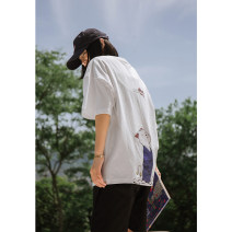 T-shirt White, black M,L,XL,2XL Summer 2020 Short sleeve Crew neck Straight cylinder Regular routine street cotton 96% and above 18-24 years old originality Cartoon, cartoon, animal pattern Other / other S1412 neutral