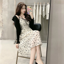 Fashion suit Summer 2021 S,M,L Black cardigan + suspender skirt 18-25 years old AML213914# 30% and below