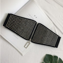 Belt / belt / chain Pu (artificial leather) black female Waistband Versatile Single loop rivet Other / other 70cm