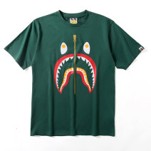 Sports T-shirt BAPE Short sleeve For men and women 6652 599 Crew neck routine nothing Summer 2021 Sports & Leisure Cool on the street cotton milky white XXL (adult)