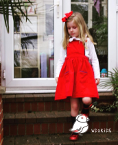 Dress gules female Other / other Two, three, four Cotton 100% 18 months, 2 years, 3 years