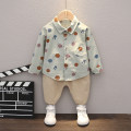 suit Other / other 80cm,90cm,100cm,110cm male spring and autumn leisure time Long sleeve + pants 2 pieces routine No model Single breasted nothing Dot cotton children Expression of love Class A 12 months, 18 months, 2 years old, 3 years old, 4 years old, 5 years old, 6 years old Chinese Mainland