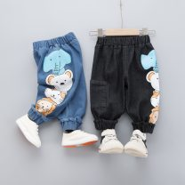 trousers Other / other male 80cm,90cm,100cm,110cm Blue, black spring and autumn trousers leisure time No model Jeans Leather belt middle-waisted Cotton denim Don't open the crotch F201108 Class A F201108 18 months, 2 years, 3 years, 4 years, 5 years