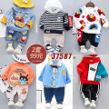 suit Other / other 80cm,90cm,100cm,110cm,120cm male spring and autumn leisure time Long sleeve + pants 2 pieces routine No model Socket nothing Cartoon animation cotton children Expression of love F201212 Class A 18 months, 2 years, 3 years, 4 years, 5 years Chinese Mainland