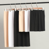 skirt Summer of 2019 Short skirt commute High waist A-line skirt Solid color Type A 91% (inclusive) - 95% (inclusive) knitting Yuanran modal  Simplicity 161g / m ^ 2 (including) - 180g / m ^ 2 (including)