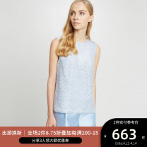 shirt SKYWAY 2,4,6,8,10 Summer of 2018 other 96% and above Sleeveless Versatile Regular Crew neck Socket other Solid color 25-29 years old Straight cylinder Ports LV8B115AWS004