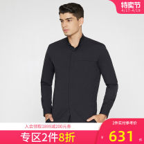 shirt Business gentleman Ports S,M,L,XL BLACK routine Pointed collar (regular) Long sleeves Self cultivation go to work autumn MV9B017AWC028 youth Business Casual 2018 cotton 70% (inclusive) - 79% (inclusive)