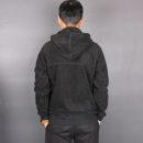 Sweater other Others black S (135 kg), m (155 kg), l (180 kg), XL (200 kg), 2XL (220 kg) Solid color Cardigan Plush Large size