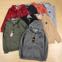 Sweater other Others Camel, army green, black, handsome, medium grey, dark red, dark grey, navy blue, orange red S (about 110-145 kg), m (about 140-170 kg), l (about 160-190 kg), XL (about 180-210 kg), loose fit for men and women other Cardigan Plush zipper
