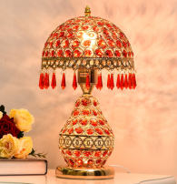 Decorative table lamp Su Baixue 111V ~ 240V (including) Simple and modern Living room, study, bedroom, other / other iron cloth Without light source electroplate 31W (inclusive) - 40W (inclusive) 3 years Chinese Mainland no