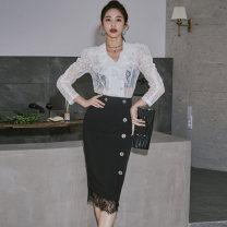 Fashion suit Winter 2020 S,M,L,XL Black and white 81% (inclusive) - 90% (inclusive) nylon