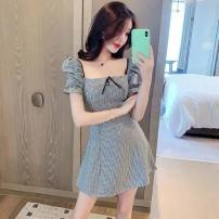 Dress Summer 2016 Picture color S,M,L,XL,2XL Middle-skirt singleton  Short sleeve V-neck puff sleeve Others 18-24 years old Han Shuangle Bandage 31% (inclusive) - 50% (inclusive) other other