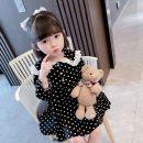 Dress black female Other / other 80cm,90cm,100cm,110cm,120cm,130cm Other 100% spring and autumn Korean version Wave point other other tp452 18 months, 2 years old, 3 years old, 4 years old, 5 years old, 6 years old, 7 years old, 8 years old, 9 years old